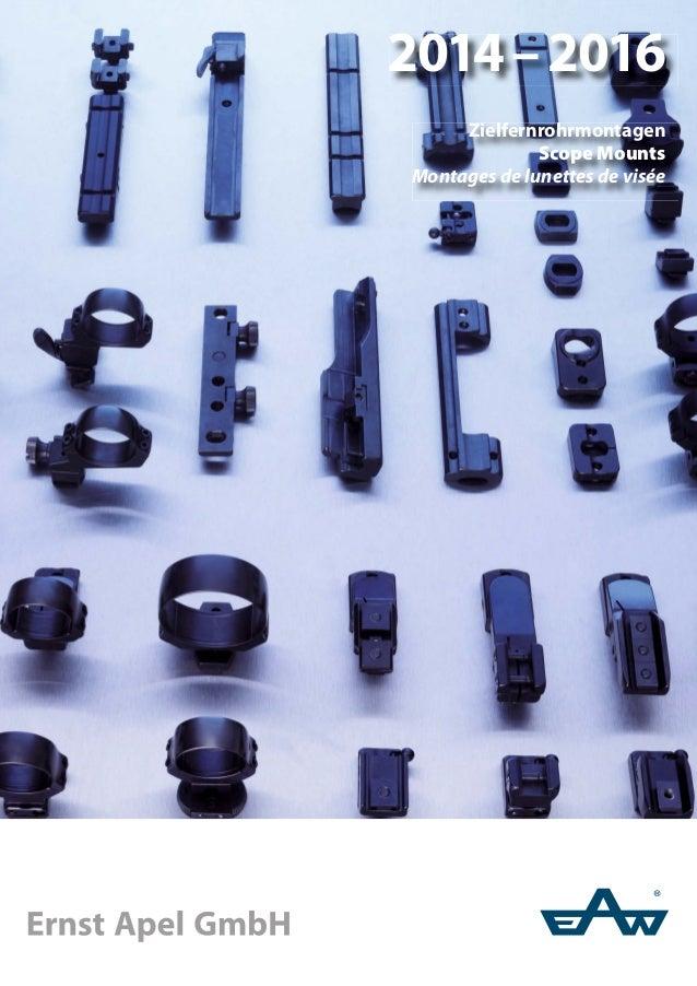 2014–2016 Zielfernrohrmontagen Scope Mounts Montages de lunettes de visée ®