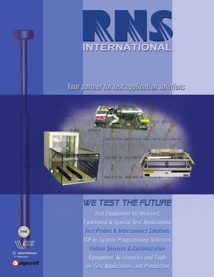 Test Equipment for Incircuit,Functional & Special Test Applications Test Probes & Interconnect SolutionsISP In-System-Prog...
