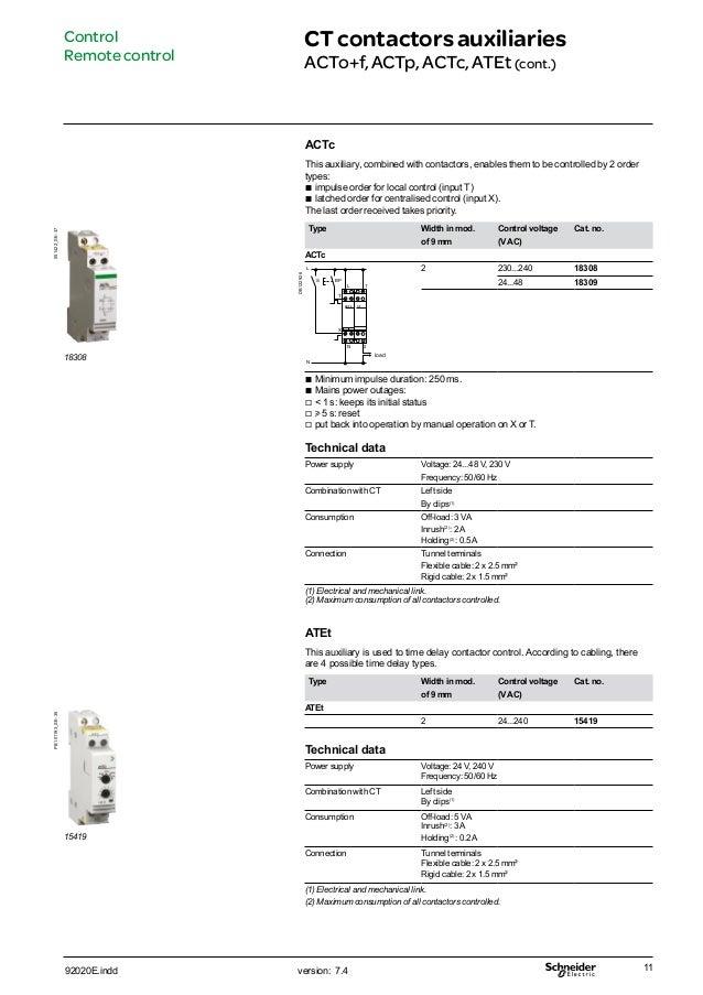 Cataloge schneider Contactor CT