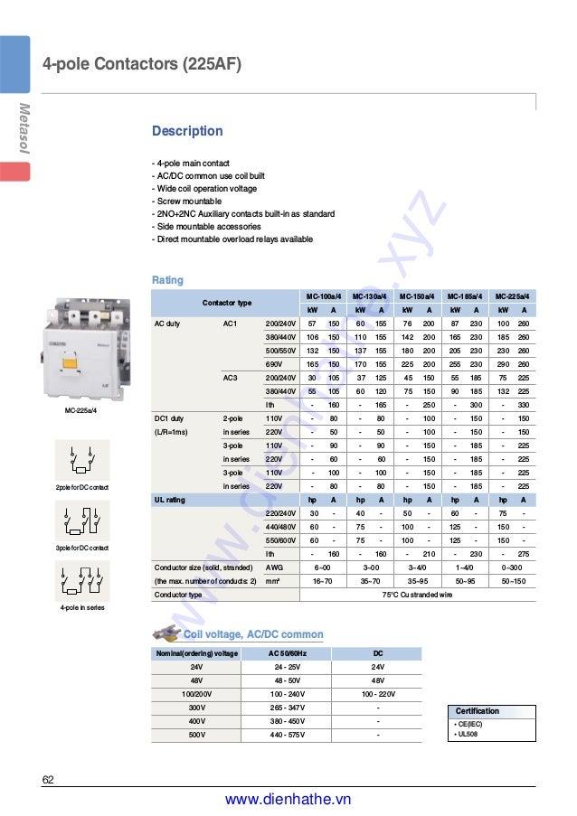 54-75A Metasol Overload Relay Metasol MC-75A-100A