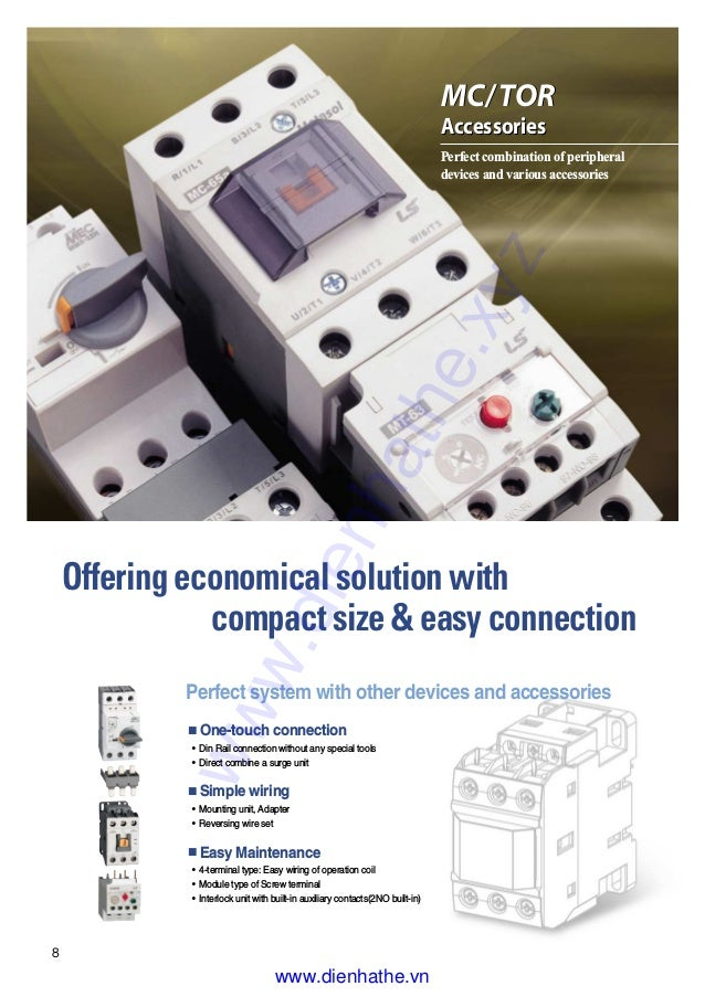 LS Metasol MC-65A MC Magnetic Contactor 3P 65A compact size /& easy connection