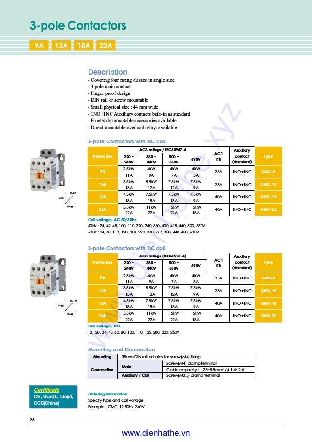 D Lot of 2 LS//MEC GMD-40 3 Pole Contactor With LS GMC -40 220V 35A Contactor