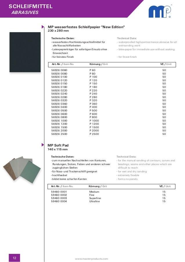 1 Stück grau MP Schleifvlies Pad Ultra Fine 115 x 280 mm