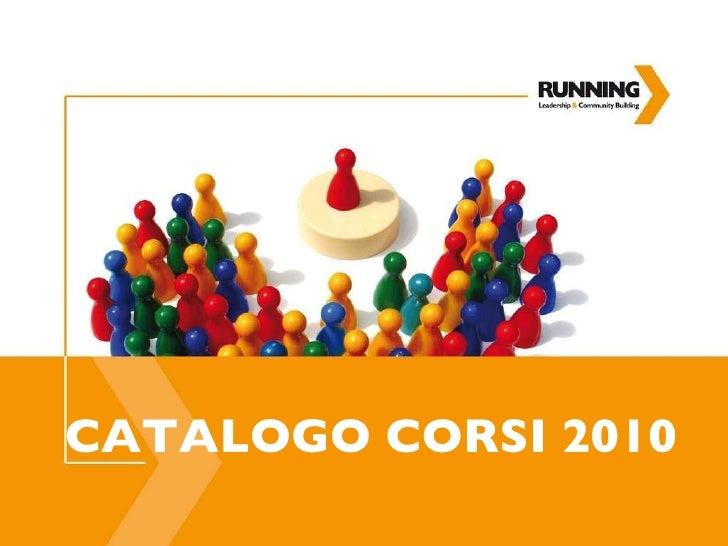 CATALOGO CORSI 2010
