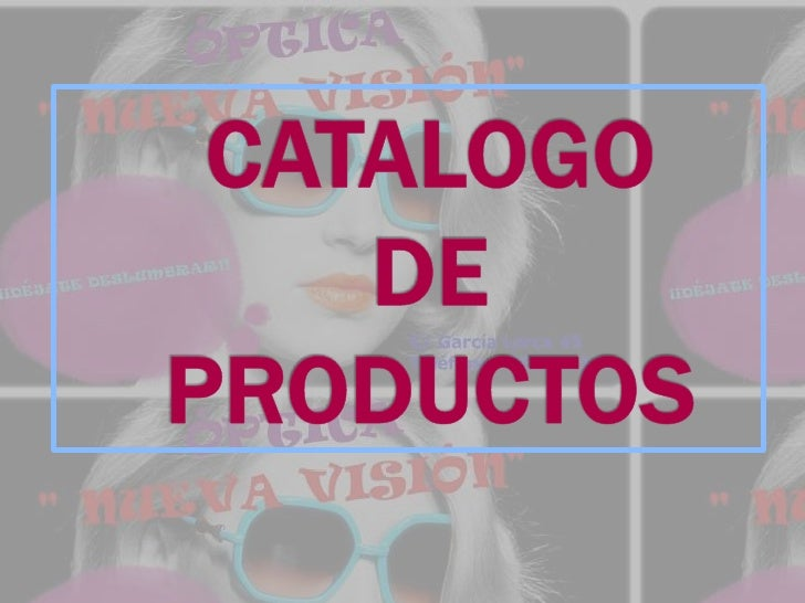 CATALOGO  DE PRODUCTOS<br />