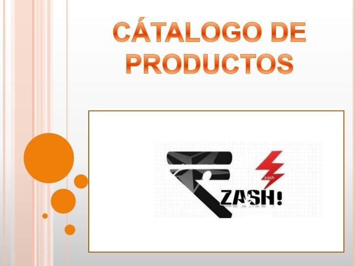 CÁTALOGO DE PRODUCTOS<br />