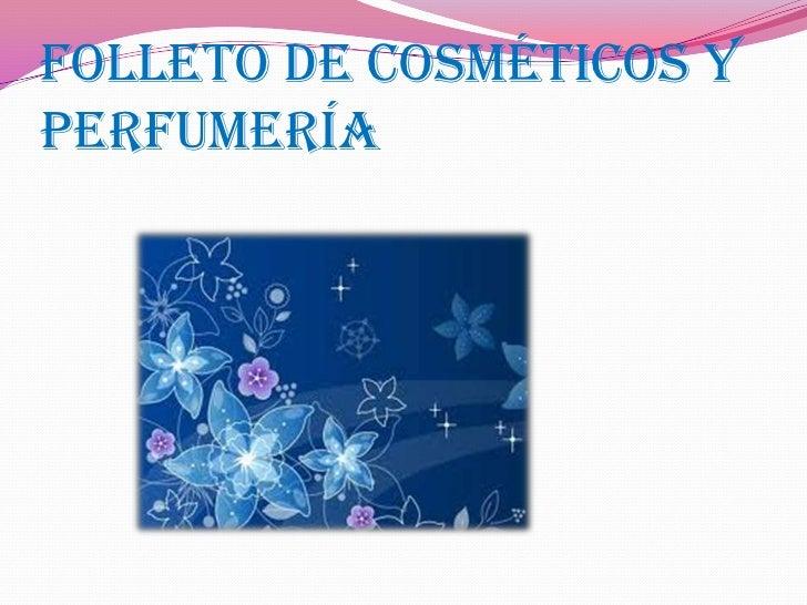 Folleto de cosméticos y perfumería<br />