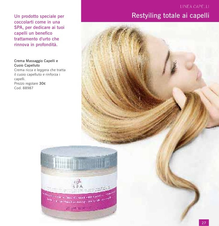 Un prodotto speciale per           Restyiling totale ai capellicoccolarti come in unaSPA, per dedicare ai tuoicapelli un b...