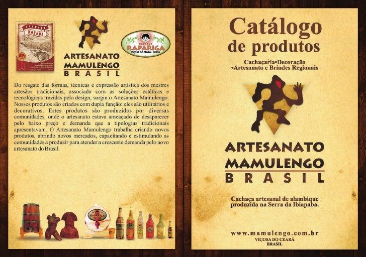 Catalogo de Produtos artesanato Mamulengo