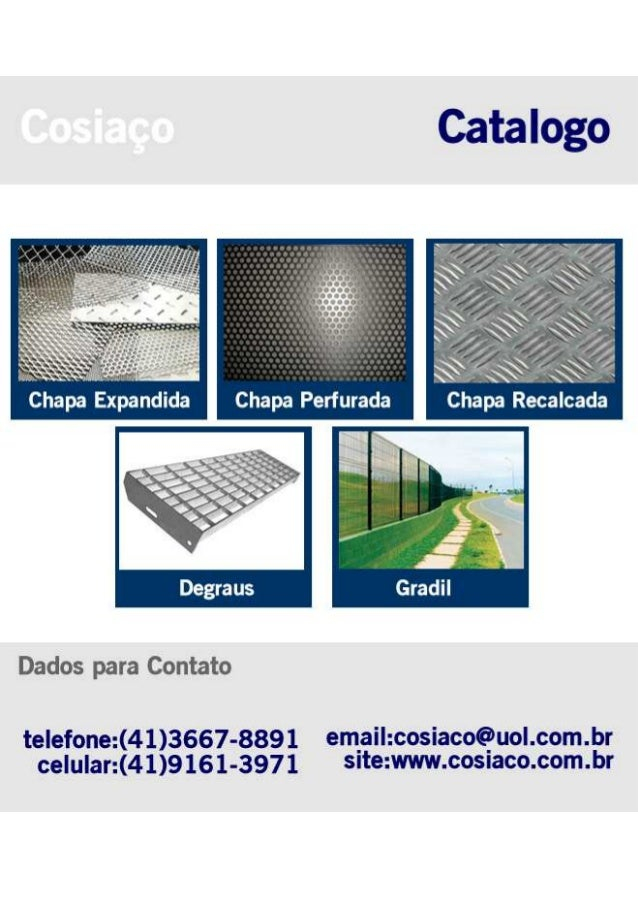Catalogo Genérico - Cosiaço  - Fabrica