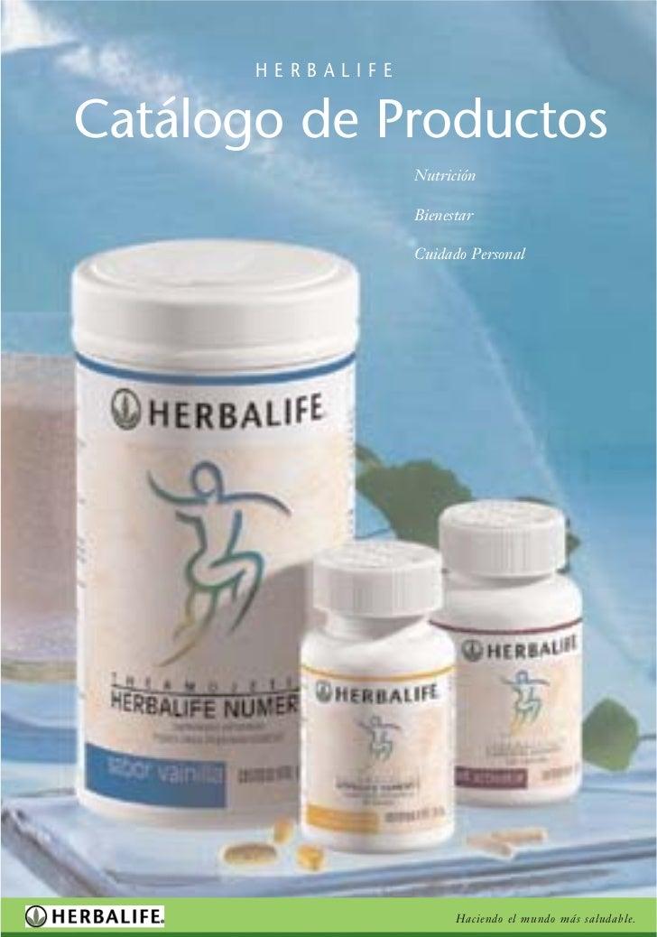 HERBALIFE   Catálogo de Productos                    Nutrición                     Bienestar                     Cuidado P...