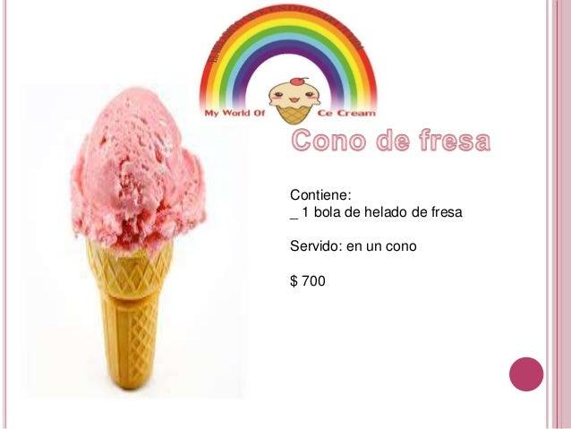 Catalogo - Calorias de un cono de helado ...