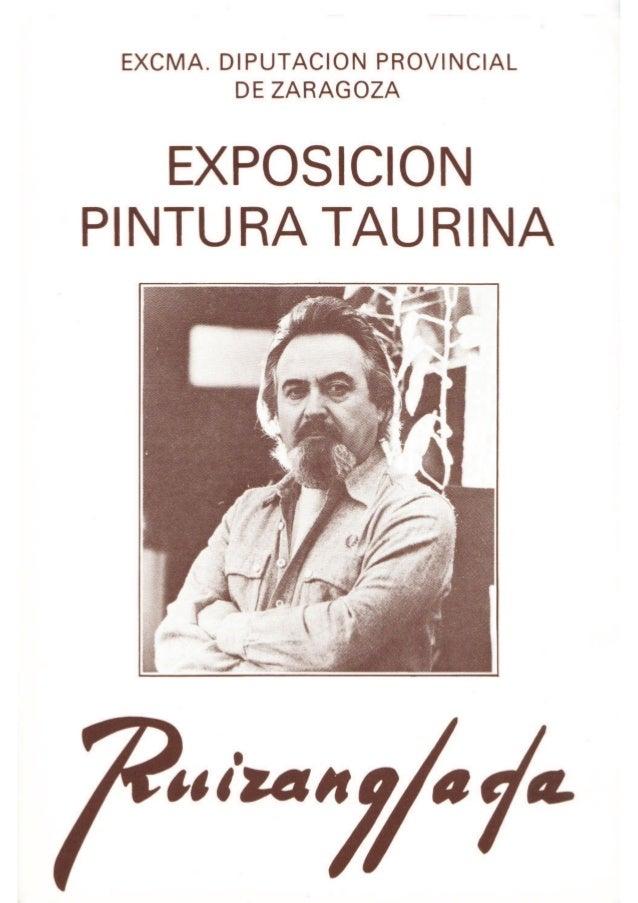 Ruizanglada Catalogo - 1986 Diputacion Provincial Zaragoza Exposición Taurina
