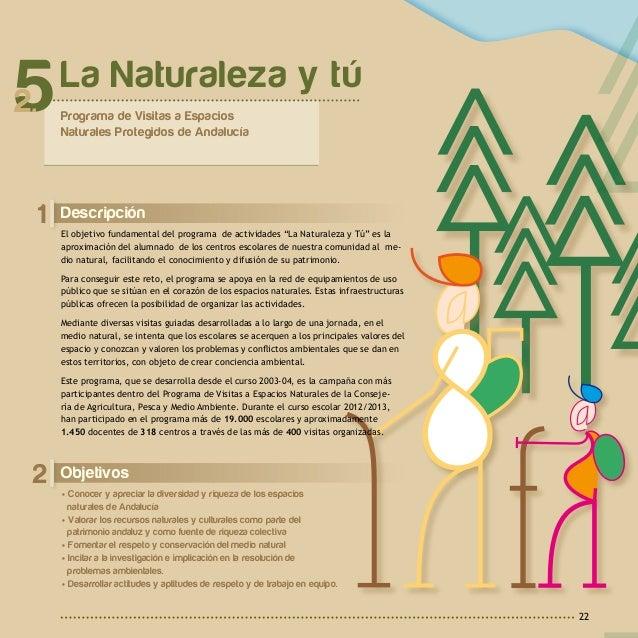 2 A c t u a c i o n e s y R e c u r s o s23 Coordinación La Naturaleza y tú está promovida por la Direc- ción General de E...