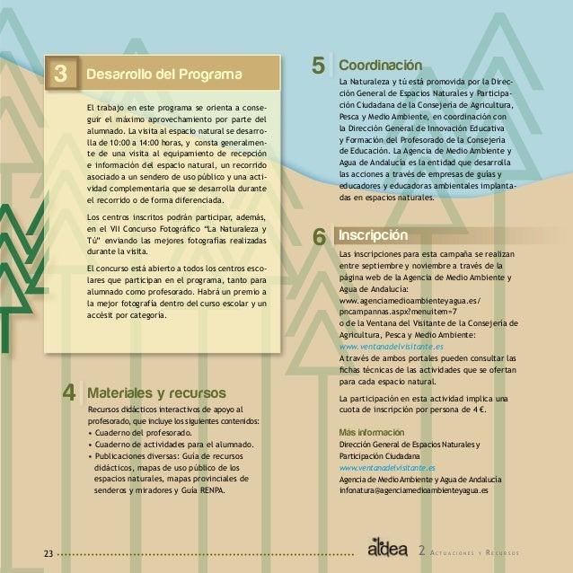 24 1 Descripción El Espacio Natural de Doñana desarrolla con los municipios de su comarca un programa de Educación Ambient...