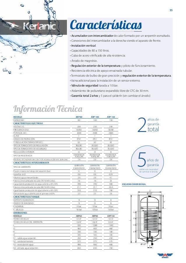 Termo electrico aparici 80 litros termo elctrico - Termos de agua electricos baratos ...