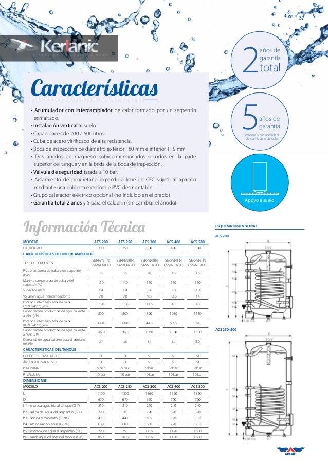 Catalogo aparici termos el ctricos agua caliente sanitaria - Termos de agua precios ...