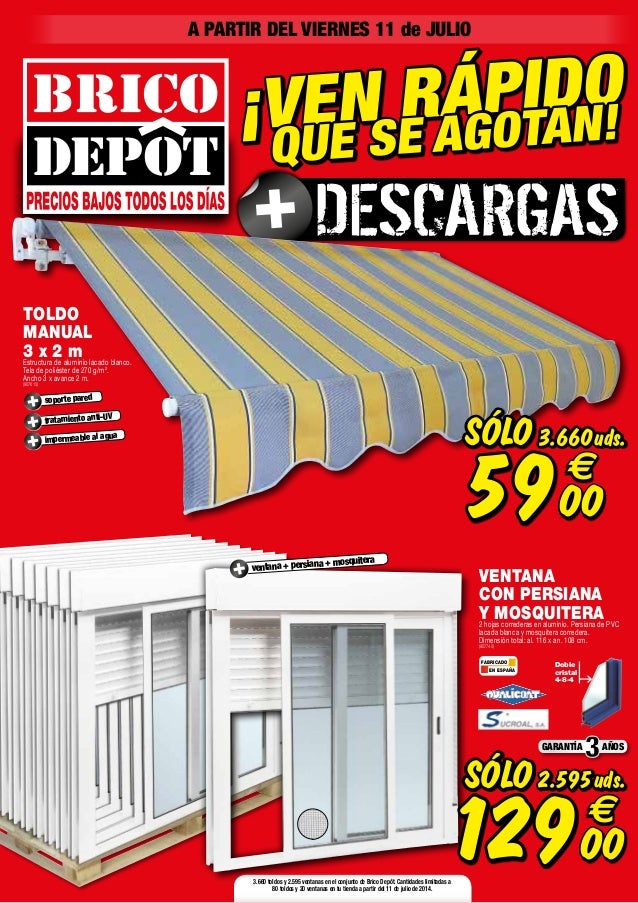Catalogo bricodepot julio 2014 for Oferta de puertas en bricomart