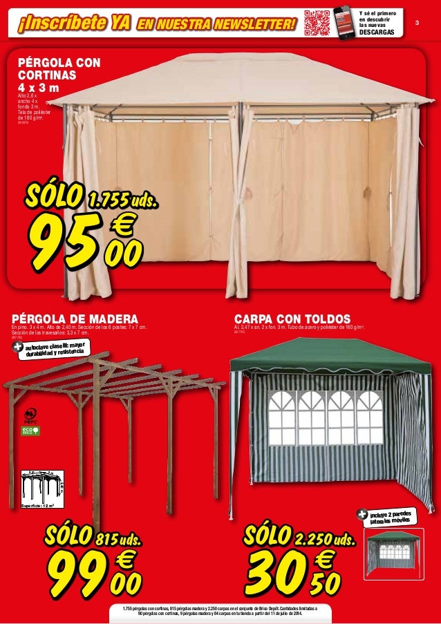 Catalogo bricodepot julio 2014 for Vallas de jardin brico depot