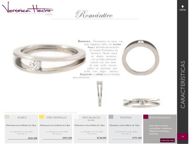 399f1c14e7ce Romántico volver Joyas Romántico Demuestra tu amor con este elegante anillo  de bordes finos y delicada terminación. El modelo Romántico de Verónica  Hecht ...