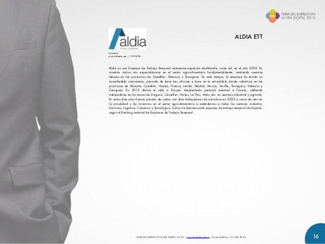 Catalogo de expositores de la feria del empleo en la era for Oficinas de trabajo temporal en barcelona