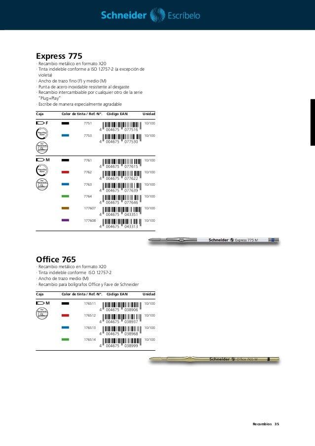 Schneider Express 225 M Recambio para bol/ígrafo de punta redonda 10 unidades, tinta negra