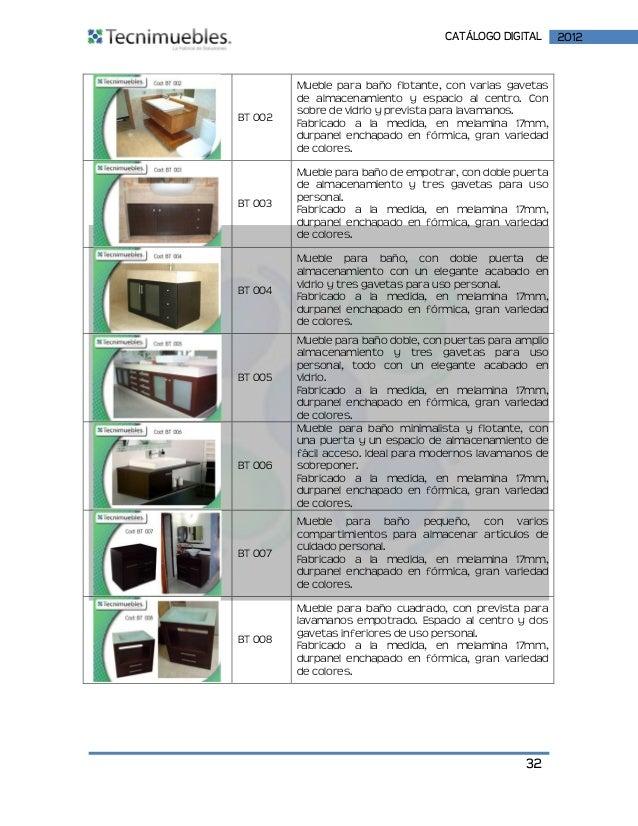Catalogo digital tecni muebles 2012 for Muebles provenzales catalogo