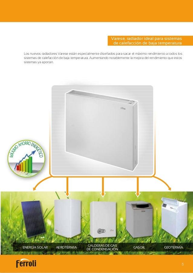 Catalogo ferroli varese radiador baja temperatura for Catalogo de radiadores