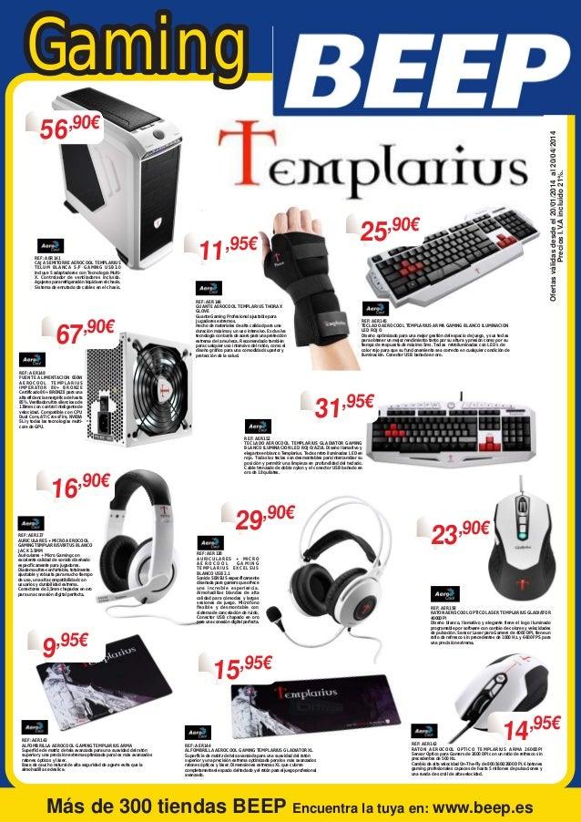 Gaming REF: AER141 CAJA SEMITORRE AEROCOOL TEMPLARIUS TELUM BLANCA S/F GAMING USB3.0 Incluye 5 adaptadores con Tecnología ...