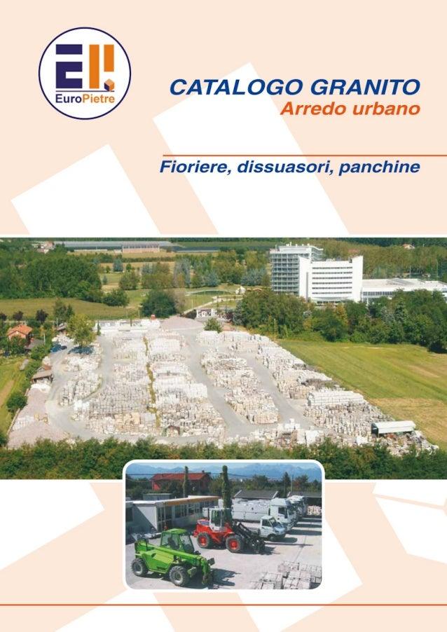 Catalogo EuroPietre Granito Arredo Urbano