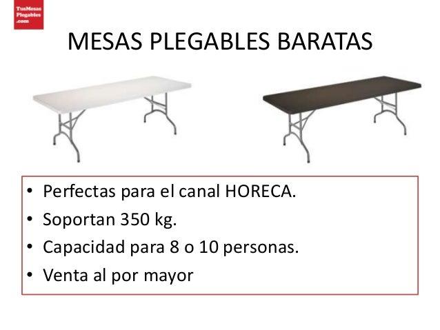 Catalogo mesas plegables baratas for Mesa 8 personas medidas