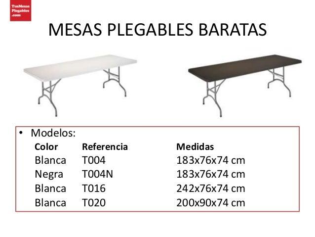 Catalogo mesas plegables baratas for Mesas abatibles baratas
