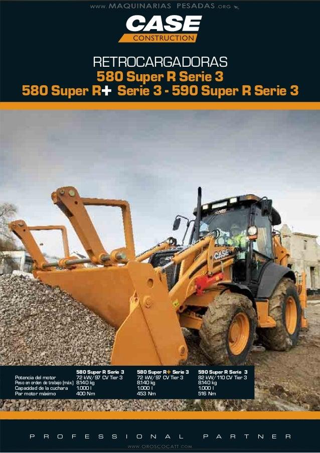 catalogo retroexcavadoras 580 590 super r serie 3 case 1 rh es slideshare net Case 580L Extendahoe Case 580L Backhoe Parts