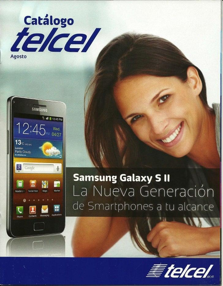 Catalogo  T E L C E L Agosto 2011