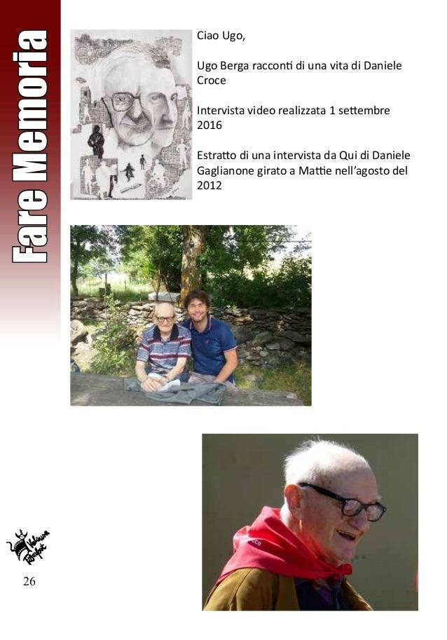 26 FareMemoria Ciao Ugo, Ugo Berga racconti di una vita di Daniele Croce Intervista video realizzata 1 settembre 2016 Estr...
