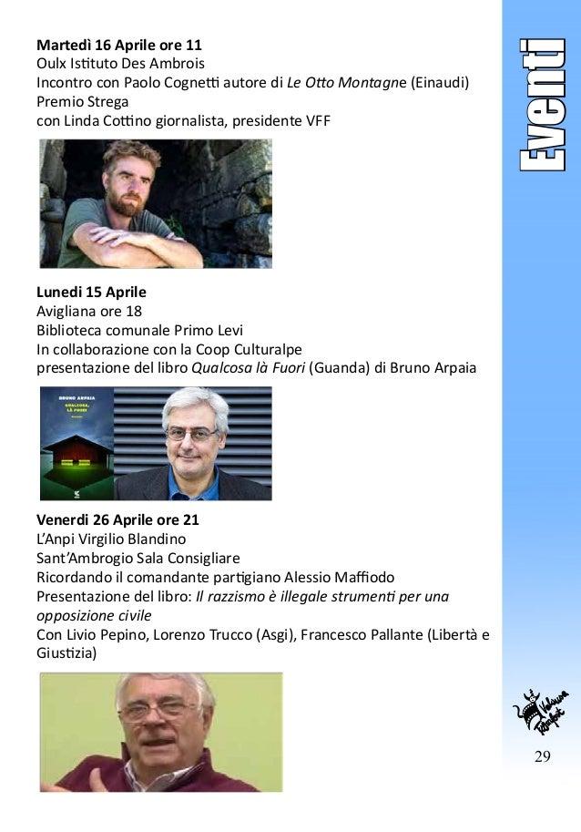 29 Eventi Martedì 16 Aprile ore 11 Oulx Istituto Des Ambrois Incontro con Paolo Cognetti autore di Le Otto Montagne (Einau...