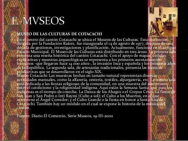  El presente catalogo es una investigación y recopilación de toda la información encontrada en la ciudad de Cotacachi y l...