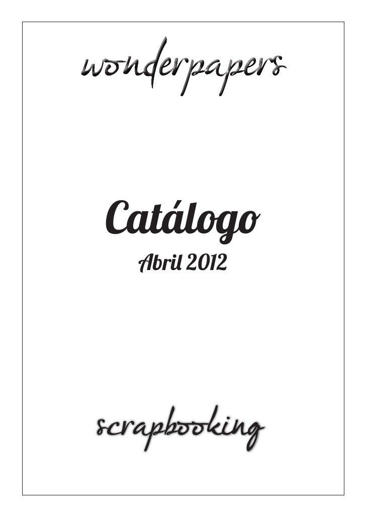 Catálogo  Abril 2012scrapbooking