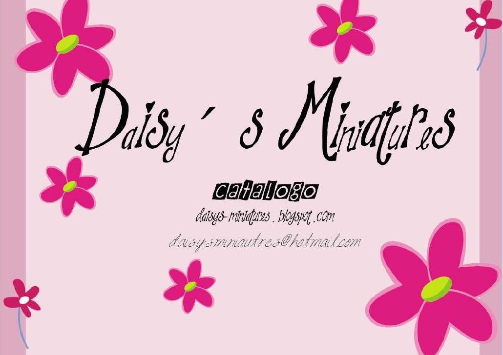 Catalogo Daisy´s Miniatures