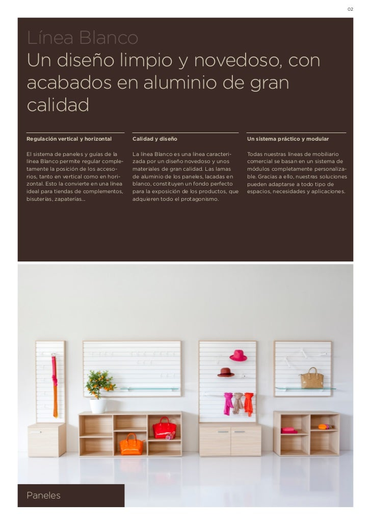 02Línea BlancoUn diseño limpio y novedoso, conacabados en aluminio de grancalidadRegulación vertical y horizontal         ...