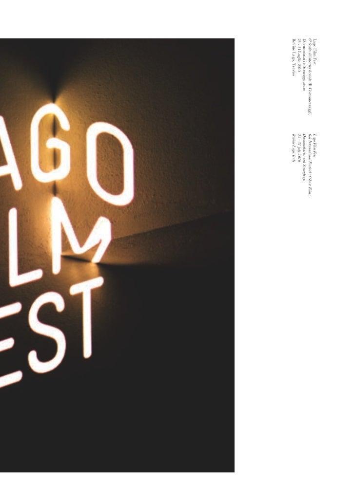 Lago Film Fest                                 Lago Film Fest6° festival internazionale di Cortometraggi,   6th Internatio...
