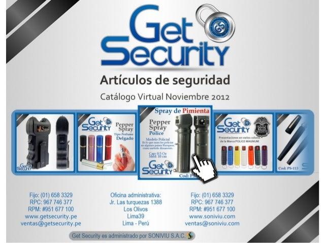 Get Security - Catalogo2012