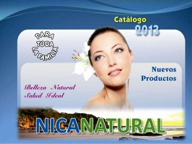Catalogo Nicanatural 2013