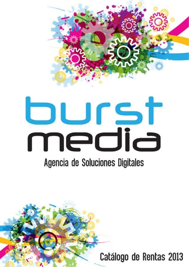 Catálogo de Equipo en Renta 2013 Burst Media