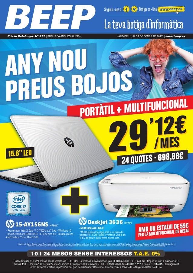 "PORTÀTIL + MULTIFUNCIONAL 24 QUOTES · 698,88€ 29'12€ /MES ANY NOU PREUS BOJOS 15.6""LED Ultrabook, Celeron, Celeron Inside,..."