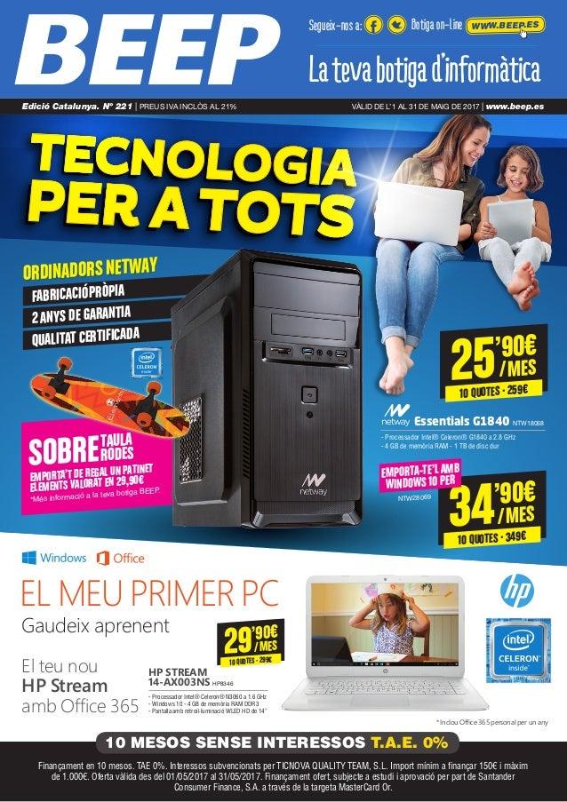 TECNOLOGIATECNOLOGIA PER ATOTSPER ATOTS Gaudeix aprenent El teu nou HP Stream amb Office 365 * Inclou Office 365 personal ...