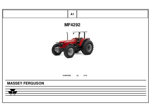 MF4292 C429201E04 12/10(0) MASSEY FERGUSON A1