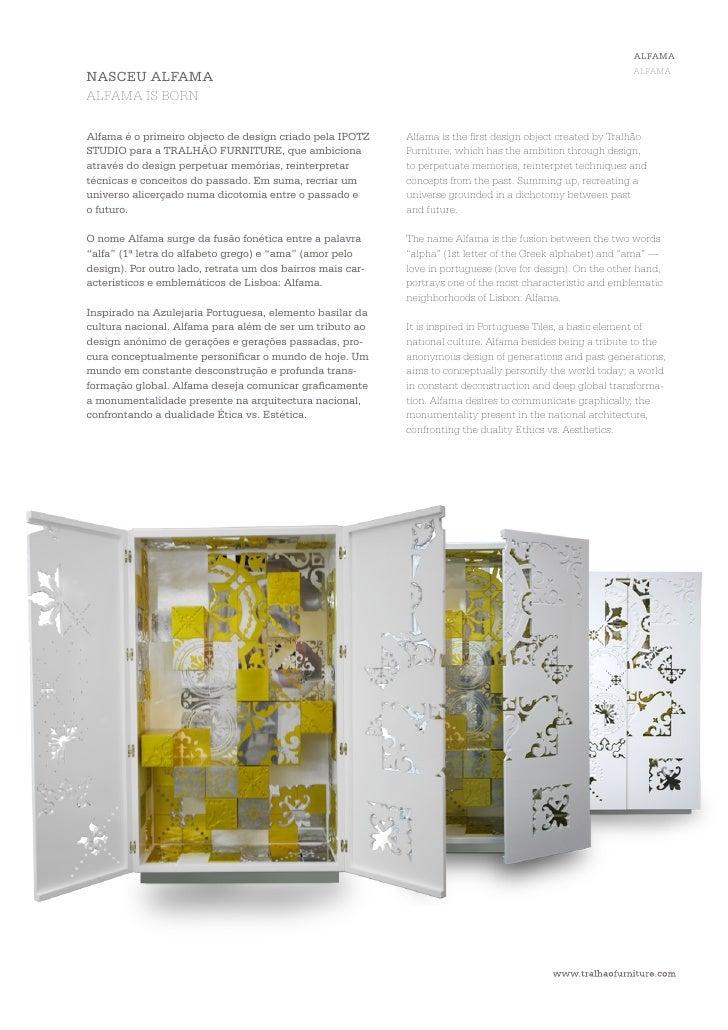 ALFAMA                                                                   ALFAMAEsta peça multifuncional é composta de dist...