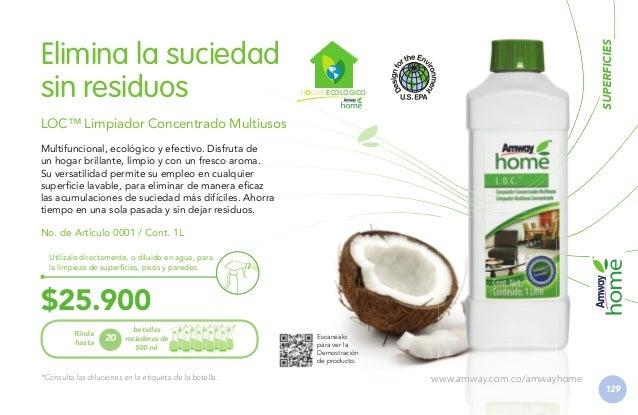 Superficies impecables de manera práctica y segura LOC™ Limpiador Concentrado para Cocina Limpieza y seguridad para tu fam...