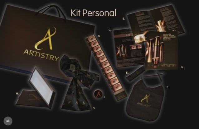 Kit Personal A- Libro de marca B- Plegable de marca C- Volante Artistry D- Regla Anti-edad E- Balaca F- Babero G- Pañoleta...